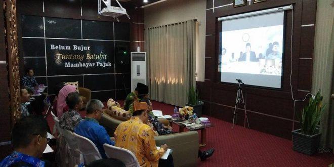 Acara Telekonfrence Antara Walikota Palangka Raya dan Walikota Bandung