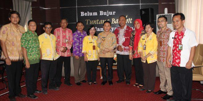 Kunjungan Bapak Gubernur Kalimantan Tengah di DISPENDA Kota Palangka Raya